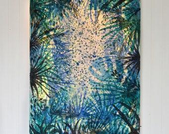 Led canvas art, 'Tropical jungle'