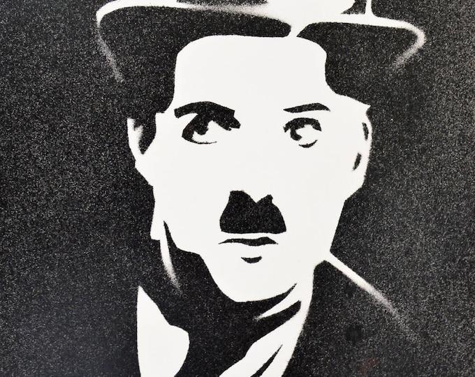 Stencil spray portrait 'Charlie Chaplin'