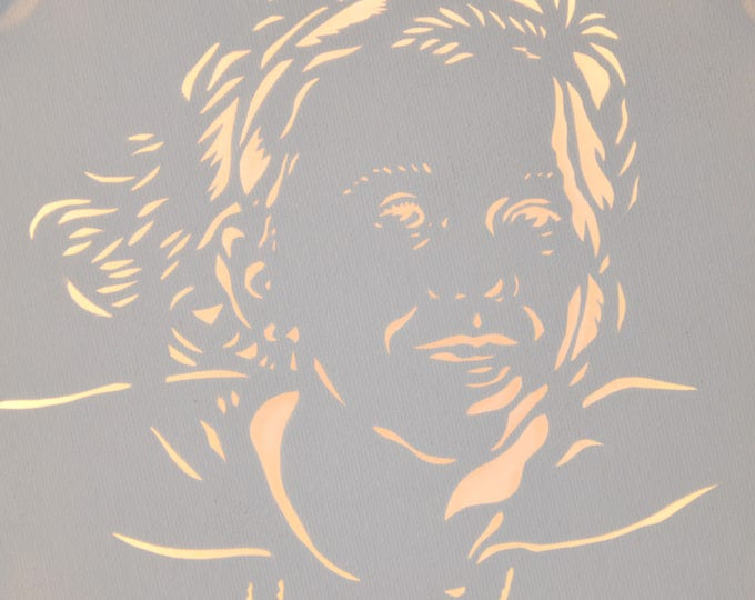 Led cut canvas art 'Portrait'