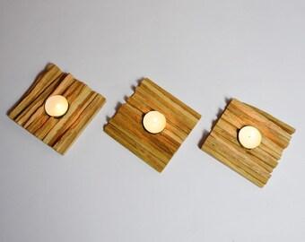 Myxaim // 3 Wooden candelholders