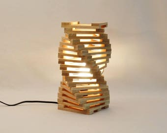 Table lamp design oak wood 'Jay'