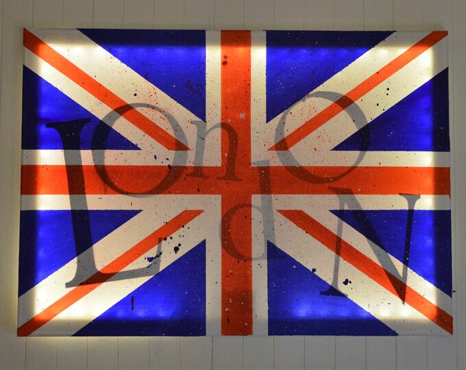 Led canvas art 'Union Jack english flag'