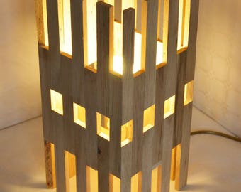 Hi-Rise / / design in oak wood lamp
