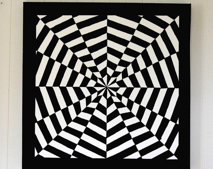 Canvas 'Hypnotic', mural decoration