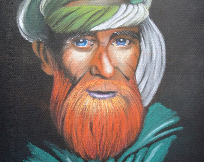 Ethnic portrait with pencils 'Red beard'