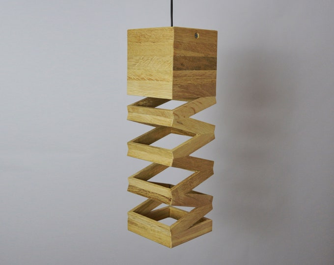 Wooden Design pendant Lamp Accordeon