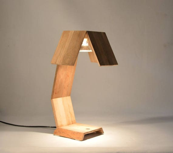 Desk Lamp Design In Recycled Oak Wood Minsnax