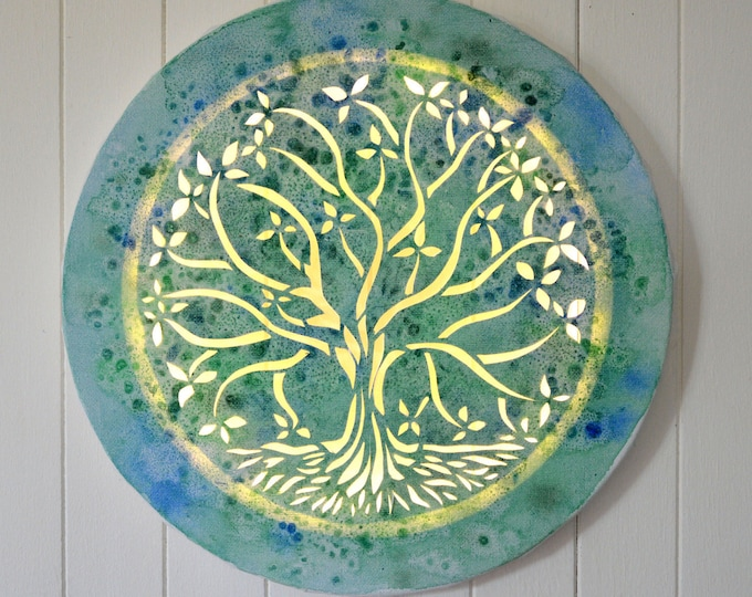 Tree of life, Led canvas art painting, wall decoration