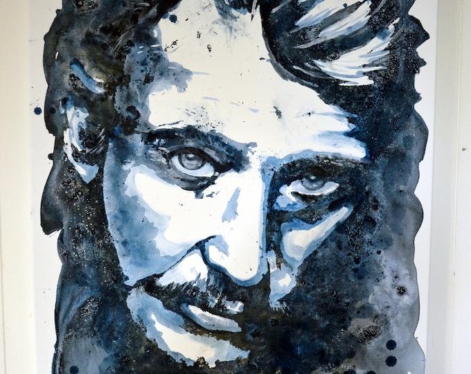 Johnny Hallyday, original painting