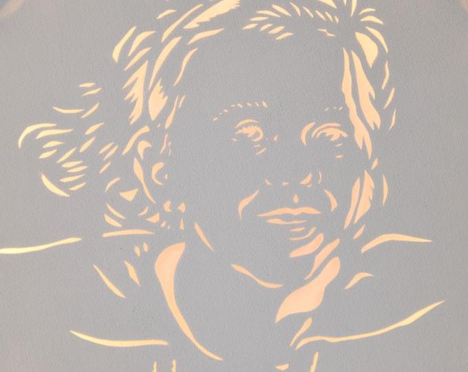 Led cut canvas art 'Portrait'