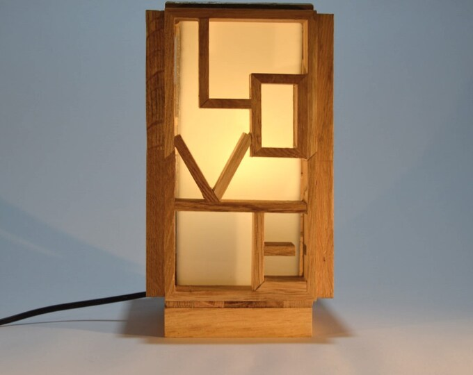 Love and Pulse // Unique wooden lamp