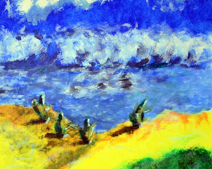 Acrylic painting 'Beach of Venezuela'