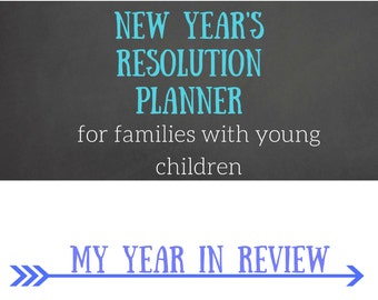 New Year's Resolution Planner for Families with Young Children