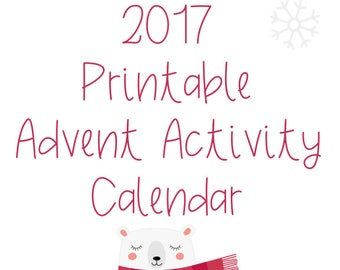 2017 Printable Advent Activity Calendar