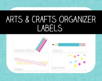 Craft Toolbox Organizer Labels