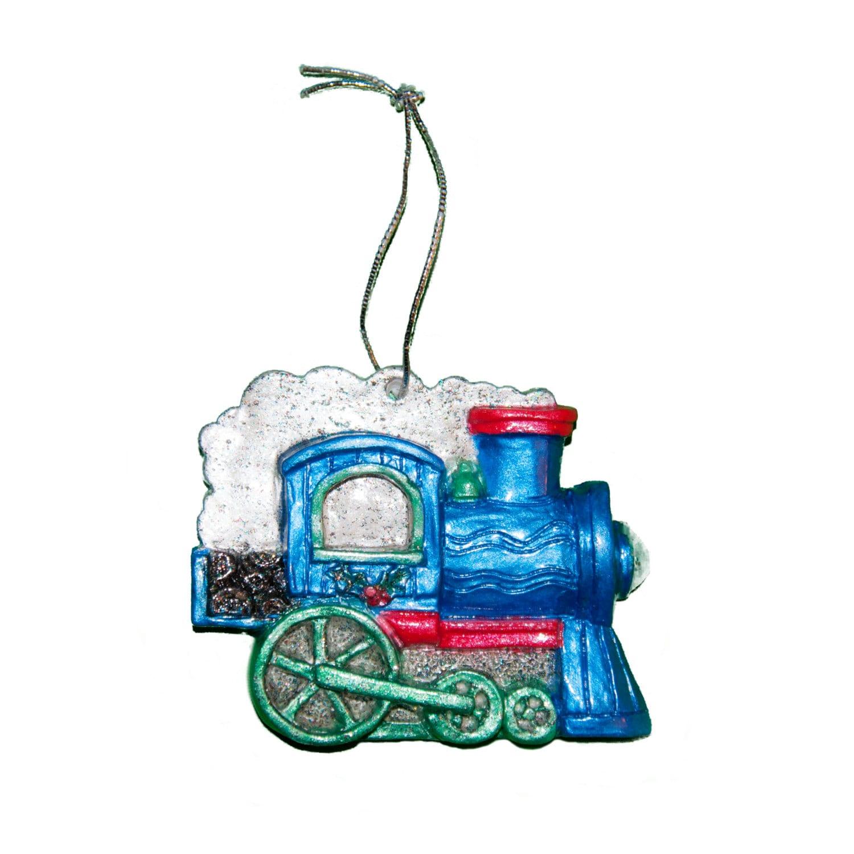 Blue Train Engine Christmas Tree Ornament | Etsy