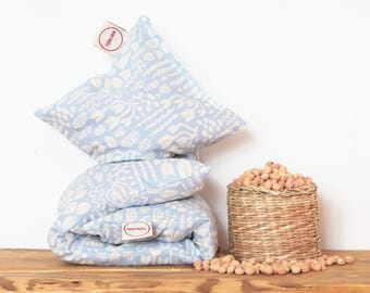 """Cherry Stone Pillow """"Scandiweed"""" - Reusable / Microwaveable / Heat Pack / Ice Pack / Heating Pad / Wheat bag  / Hot water bottle / Warmer"""