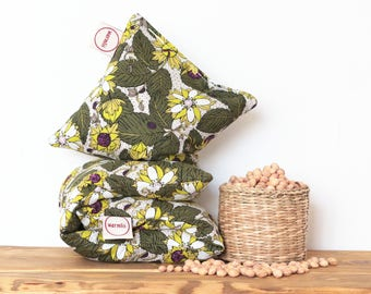 """Cherry Stone Pillow """"Strawberry"""" - Reusable / Microwaveable / Heat Pack / Ice Pack / Heating Pad / Wheat bag  / Hot water bottle / Warmer"""