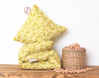 """Cherry Stone Pillow """"Straw"""" - Reusable / Microwaveable / Heat Pack / Ice Pack / Heating Pad / Wheat bag  / Hot water bottle / Warmer"""