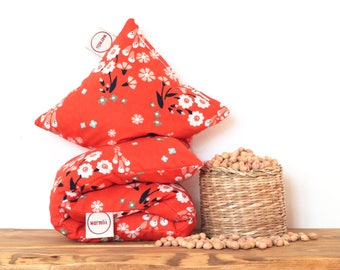 """Cherry Stone Pillow """"Foxgloves"""" - Reusable / Microwaveable / Heat Pack / Ice Pack / Heating Pad / Wheat bag  / Hot water bottle / Warmer"""