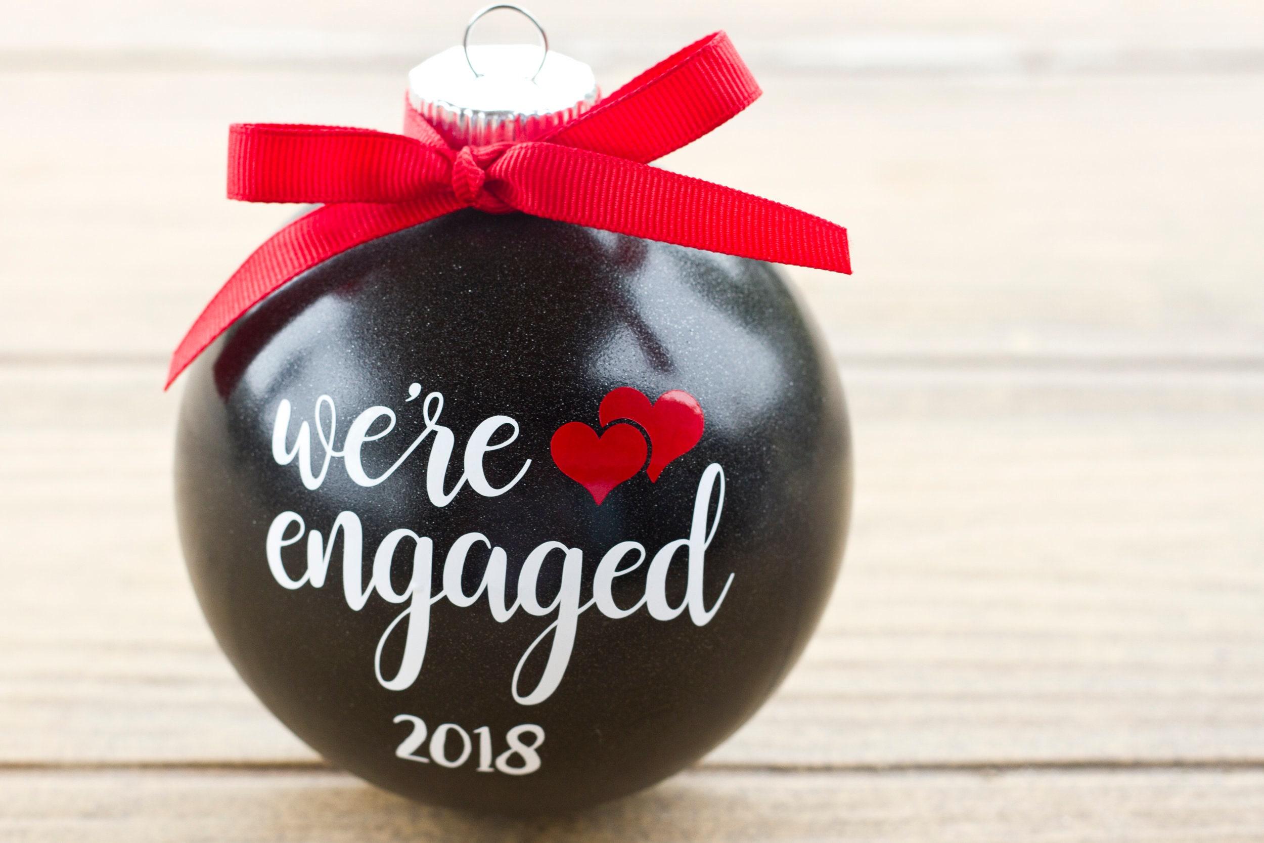 Engagement Ornament Wedding Shower Gift Engagement | Etsy