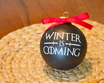 "Game of Thrones Ornament - 4"" Winter is Coming"