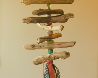 Bohemian Driftwood Mobile / Hanging Home Decor