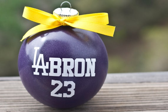 image 0 - LA-Bron Los Angeles Lakers Christmas Ornament Lebron James Etsy