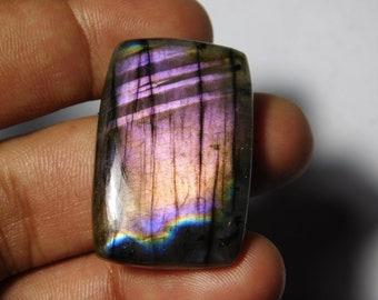 mm Gorgeous Purple color Flasy Fire Labradorite Spectrolite Gemstone 138Cts. A++ Very Rare Purple Labradorite Spectrolite Cabochon 56X37