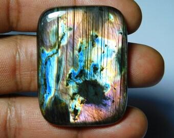 Natural Dual Fire Labradorite Spectrolite Cabochons 6 Piece Of Beautiful Flasy Labradorite Loose Gmestone #AB3880 AAA++ Quality !