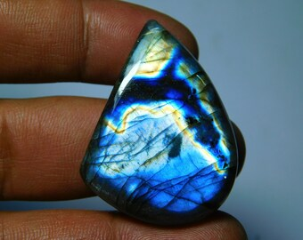 Very Rare Spectrolite Labradorite Gemstone Cabochon Very High Quality Large Labradorite