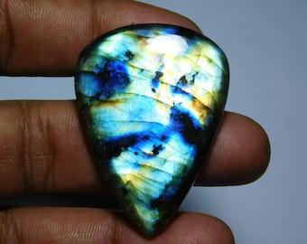 94.05cts size 43x43x6mm top gemstone Multi labradorite Top quality Multi Purple labradorite purple labradorite stone
