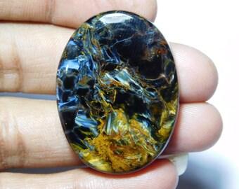 Pietersite Gemstone,Natural Pietersite Cabochon,Top Quality Pietersite  loose stone 64Cts. mm 43X32 AAA Rare