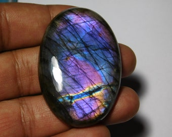 Amazing Purple Labradorite Gemstone Cabochon Rare Quality Making Pendant Labradorite Gemstone Pear Shape 28.5 Cts Size 27x17x7 P1#260