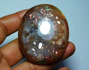 Beautiful Sunstone Gemstone Top Quality handmade Cabochons 100%Natural Beautiful Loose stone 378Cts.(64X53)mm