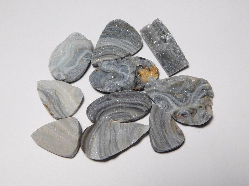 10 Pcs Desert druzy Cabochons Desert druzy loose stone,Desert  Semi precious,Desert druzy for jewelry 202Cts. Natural Desert druzy Lot
