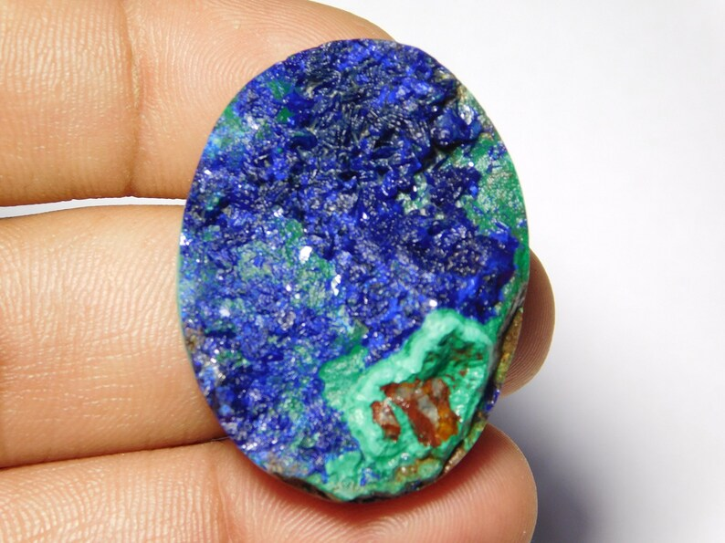 35X27 Rare Collection Of  Very Rare /& Gorgeous Azurite Malachite Druzy Very High Quality Cabochon,Natural Loose Gemstone 88Cts. mm