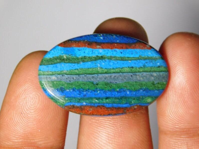Rainbow Calsilica Gemstone,Rainbow Calsilica Cabochons,Rainbow Calsilica loose Gemstone 16Cts. Christmas sell 50/% off 33X20 MM