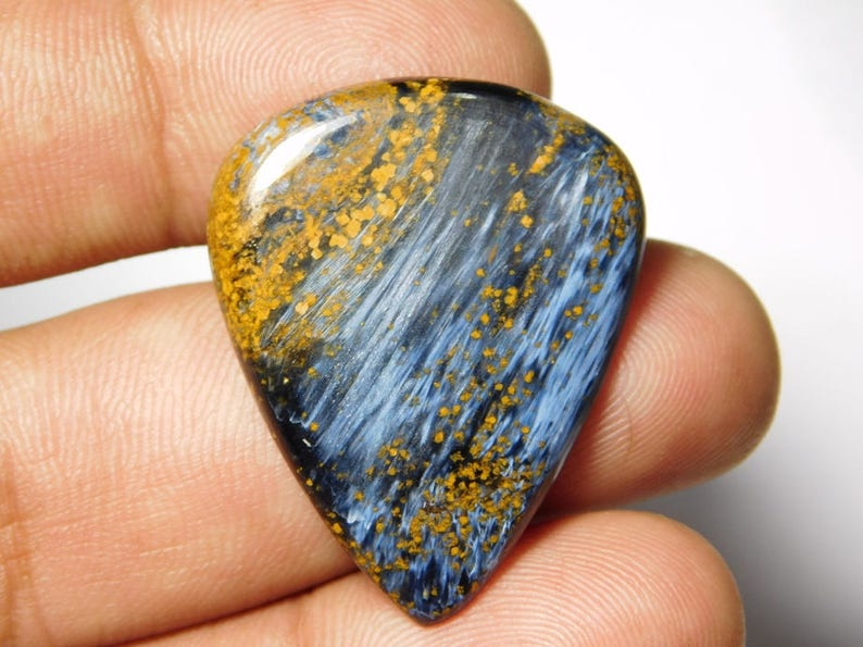 Very Rare Quality Pietersite Cabochon  Top Grade Pietersite Gemstone  Very High Quality  Heart Shape  20 Ct  21x22x6mm  Loose Gemstone
