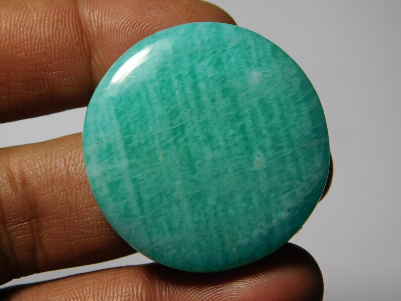 Natural Amazonite Cabochons,Loose stone,Gemstone Top Quality handmade Cabochons 100/%Natural Amazonite Beautiful Loose stone 101cts. 38X37 mm