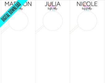 Printable LLR Unicorn Rack Style Dividers | Clothes, Clothing, Closet, Garment | Includes All Styles | Leggings Labels Card