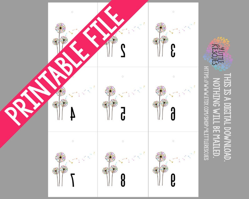 picture relating to Free Printable Live Sale Numbers named Printable: LLR Dandelion Opposite Figures 1-500 Stock Are living Revenue Tags  In advance and Opposite for Consultants Fb PopUp Sale