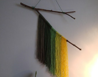 Wooden wall hanging Forest Greens
