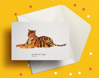 Tiger puns card | Etsy