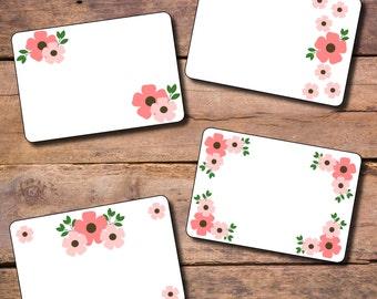 Spring Pink Flower Label