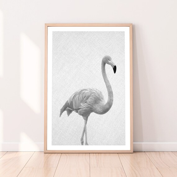Modern Flamingo Animal Minimalist Canvas Wall Home Poster Painting Decor TW