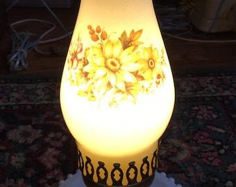 Vintage floral desk lamp