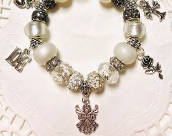 White Angel - European Style Charm Bracelet