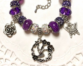Hummingbird Handmade European Style Charm Bracelet