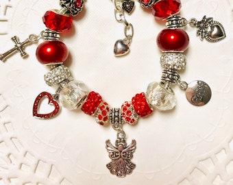 Angel-European Style Charm Bracelet